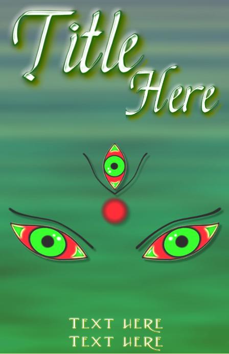 Goddess durga mystical eyes and signs