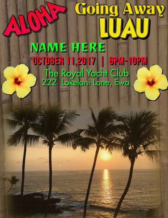 Going Away Luau Template