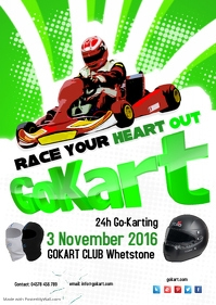 GoKart Flyer Template