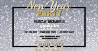 Gold & Silver NYE Party Facebook template