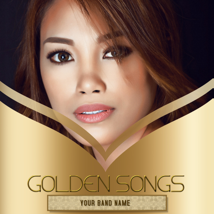 Gold Album cover Template