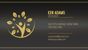 Business cards design templates postermywall gold and black luxury multipurpose business card template wajeb Gallery