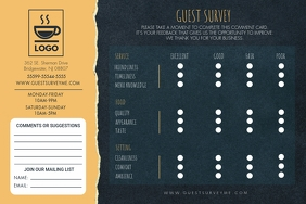 Gold and Green Guest Survey Comment Card Etiqueta template