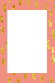 Gold and Pink Party Prop Frame