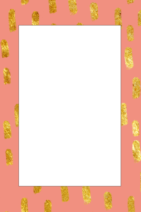 982b8ed962d Gold and Pink Party Prop Frame. Customize template