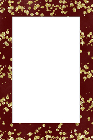 Gold and Red Party Prop Frame