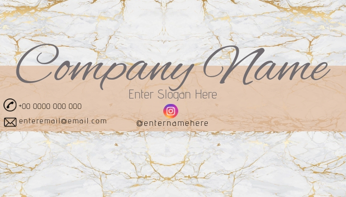 gold and white marble business card tj Visitkort template
