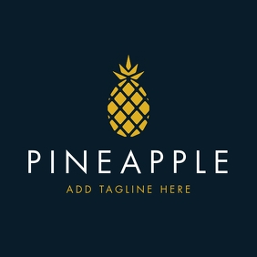 gold and white pineapple logo
