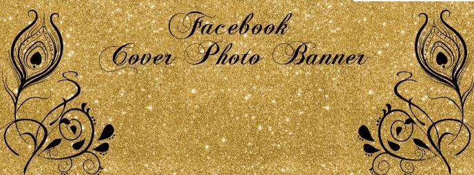 Gold Black Facebook Banner template