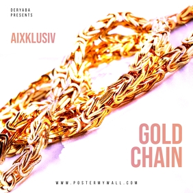 Gold Chain The Mixtape CD Cover template