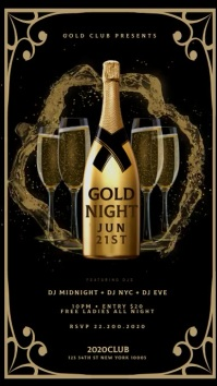 GOLD CHAMPAGNE NIGHT Instagram sTORY Instagram-verhaal template
