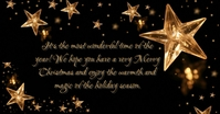 Gold Christmas Facebook Shared Image template