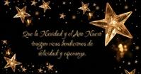 Gold Christmas Spanish Imagen Compartida en Facebook template