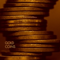 Gold Coins Web CD Cover Template Album Omslag