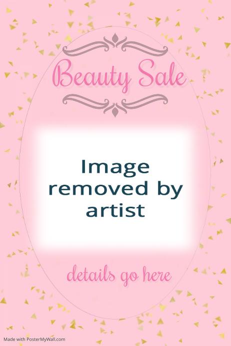 Gold Confetti Pink Invitation Flyer Fashion Beauty