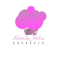 Gold Cupcake Bakery Logo template