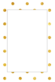 Gold Dots Party Prop Frame