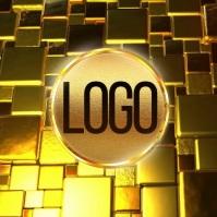 gold elegant logo design free template