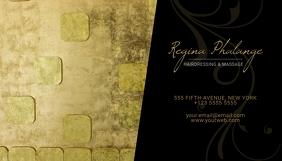 Gold Feminine Business Card Template