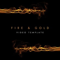 Gold Fire Video Music Album Cover Instagram Vierkant (1:1) template