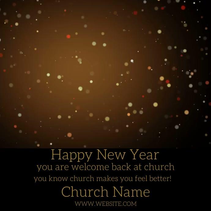 Gold Fireworks Video Square Church