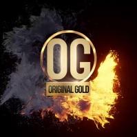 GOLD FLAME LOGO DESIGN TEMPLATE