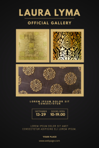 Gold Gallery Of Art Flyer Template