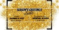 Gold Glitter ปกอีเวนต์ Facebook template