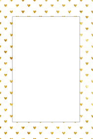 Gold Hearts Party Prop Frame
