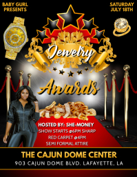 GOLD JEWELRY AWARDS RED CARPET FLYER template