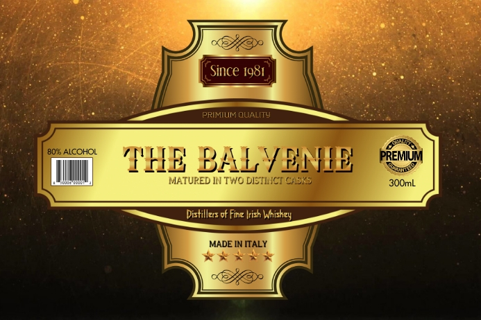Gold Label Etiket template