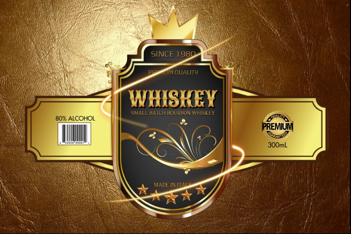 Gold label template