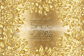 gold landscape sale flyer template