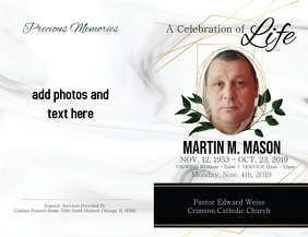 Gold Leaf Obituary Front/Back