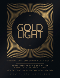 GOLD LIGHT Flyer Design