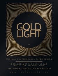 GOLD LIGHT Flyer Design