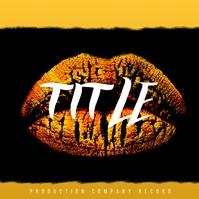 Gold Lips Trance Album Cover Ikhava ye-Albhamu template