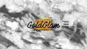 Gold Marble Glam Youtube Channel Art