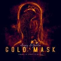 GOLD Mask Dark Surreal CD Cover Art Pochette d'album template
