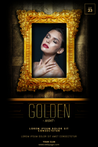 Gold night Event flyer template