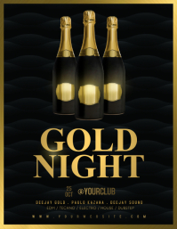 GOLD NIGHT Flyer Template