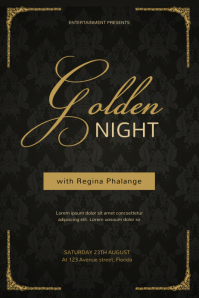 Gold Night Vip Glam Event Flyer Template Poster