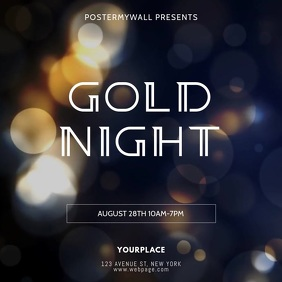 Gold Night Vip Glam Event Video Template