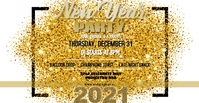 Gold NYE Party Facebook template