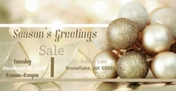 Gold Ornament Christmas Couverture d'événement Facebook template