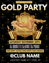 GOLD PARTY CLUB FLYER TEMPLATE