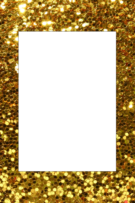 gold party prop frame template postermywall
