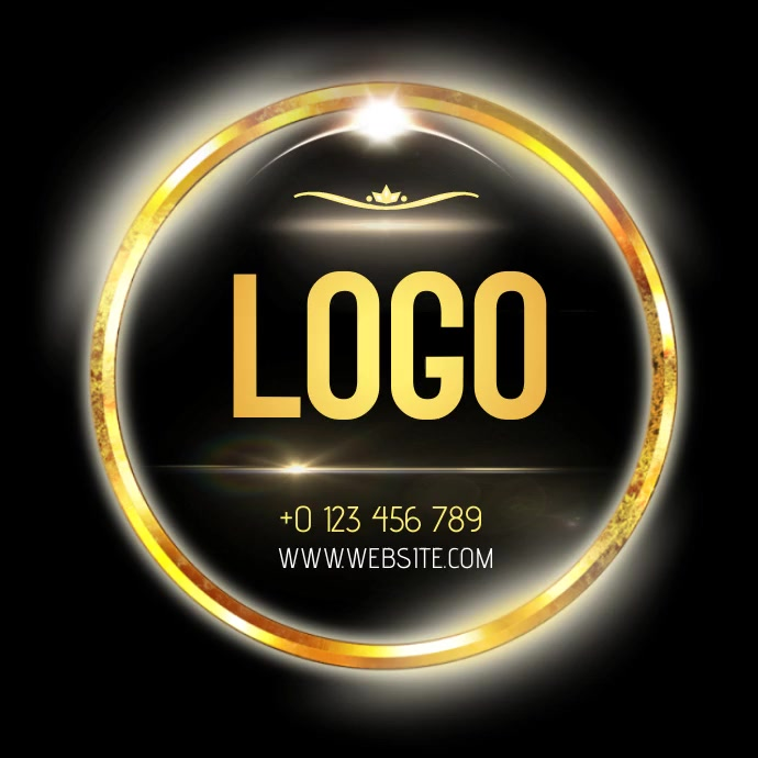 GOLD PROFESSIONAL LOGO DESIGN TEMPLATE โลโก้