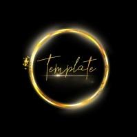 gold ring logo design template free circle Square (1:1)