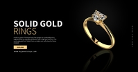 Gold Ring Sale Ad Facebook 广告 template
